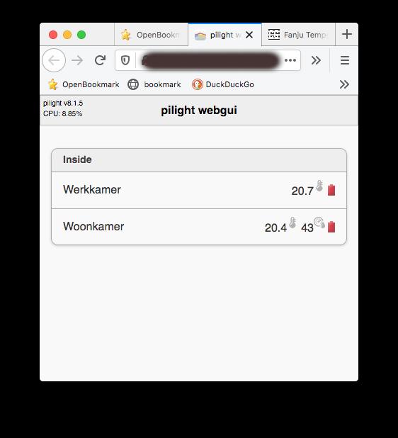 Pilight Webserver