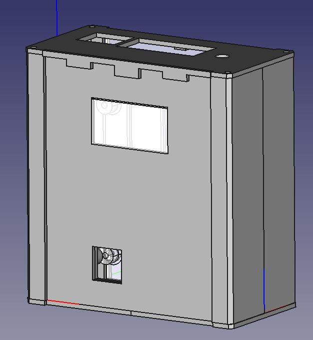 Raspberry Pi4 server case FreeCAD ontwerp